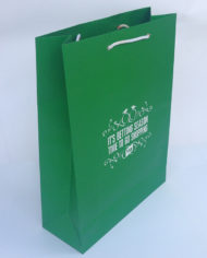 109 Cotton rope handle paper gift bags with SPOT UV logo (2)