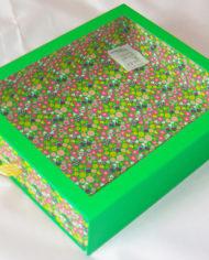 36 Bath Bodyworks green matt lanimation slide open drawer gift box with clear PET window (1)