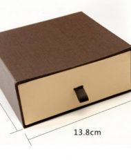 5 Black and brown Belt Storage sliding drawer Box (4)