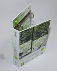 83 Luxury cardboard presentation folder box with metal ring binder (2)