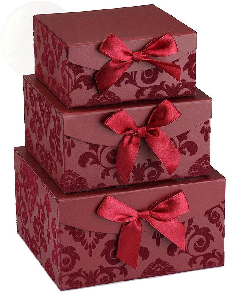 Magnetic foldable nested Red Swirl Nesting Elegant Christmas Gift ...