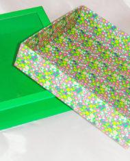 36 Bath Bodyworks green matt lanimation slide open drawer gift box with clear PET window (4)