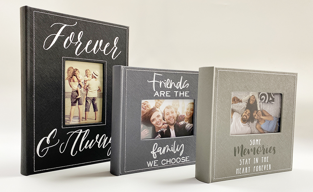Pergamin book bound photo albums with slip-in interleaved pockets