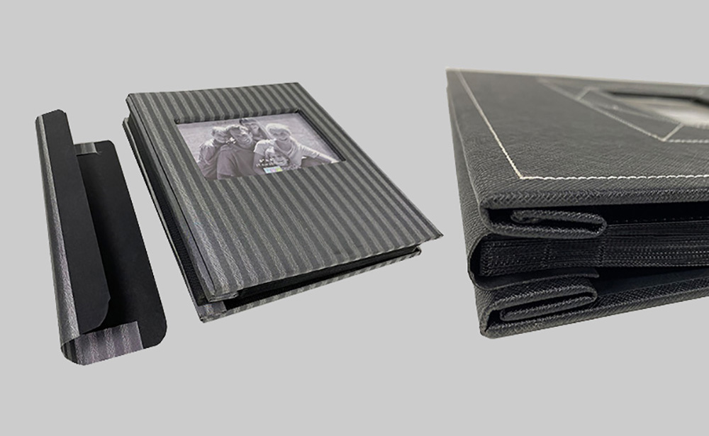 Expandable screwed post bound photo albums