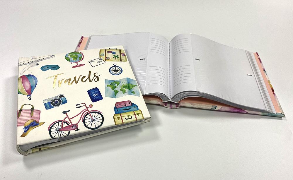 PP slip-in pergamin interleaved pockest with book bound photo albums